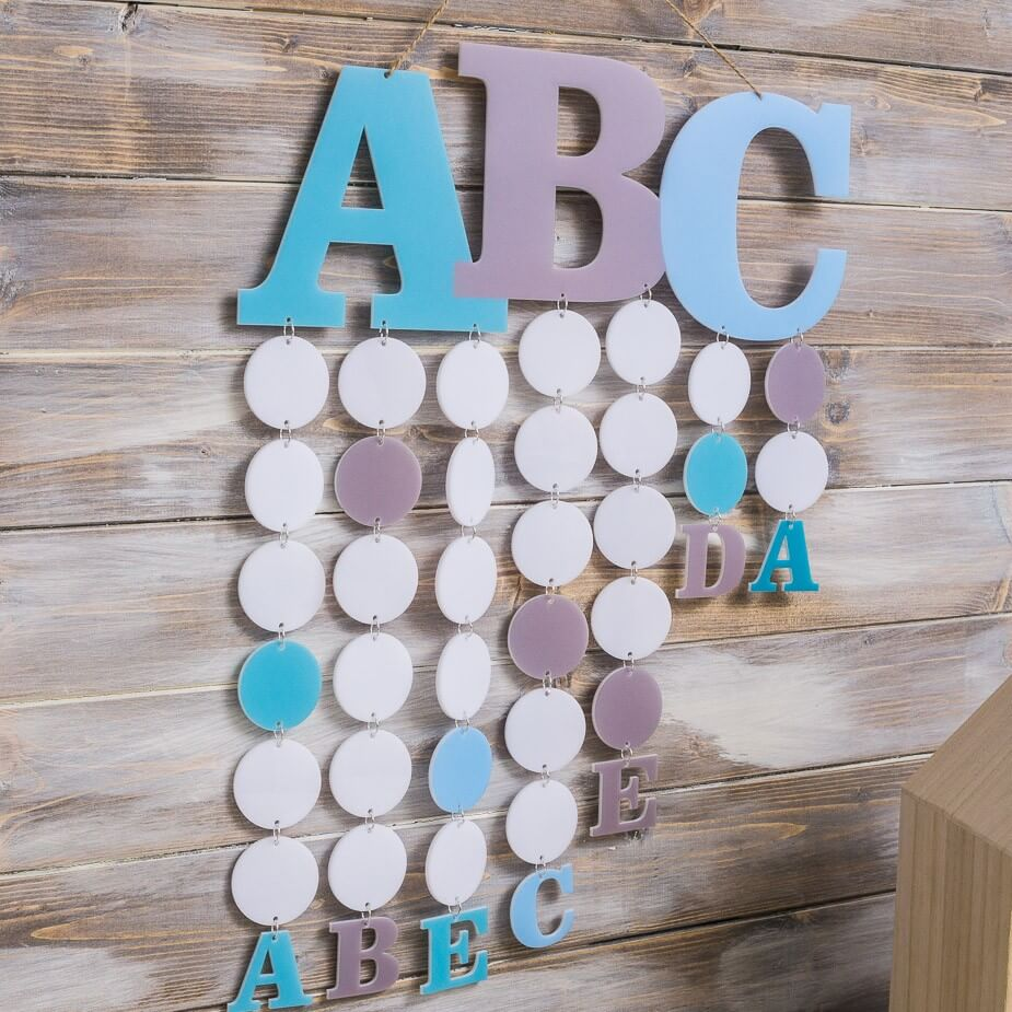 Stundenplan ABC in Blau